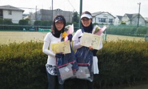 第4回 善福寺公園テニスクラブ 女子ダブルス優勝:菅沼・湯原ペア