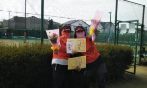 第5回 善福寺公園テニスクラブ 女子ダブルス準優勝:大土井・片木ペア