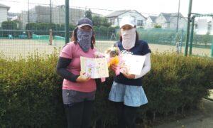 第5回 善福寺公園テニスクラブ 女子ダブルス優勝:川口・櫻田ペア